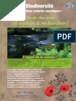 151 Eau & Rivières 151 - Printemps 2010 - Enquete-biodiversite-2010