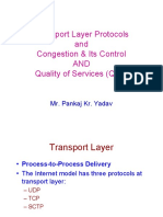 Transport Layer Protocols and Congestion and Its Control-Quality of Services