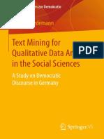 Wiedemann - Text Mining for Qualitative Data Analysis