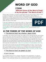 Word of God Jesus Christ