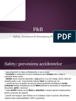 Curs 6 F&B Safety, Sanitation and Emergency Procedures