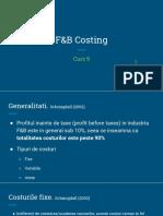 curs 9 F&B Costing