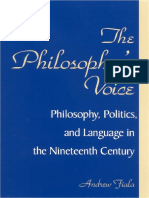 ANDREW FIALA- The Philosopher's Voice- Philosophy,Politics, And Language in the Nineteenth Century [SUNY Press-2002]