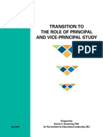 Transition to the Role of Principal and Vice-principal Study
