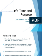 authors purpose and tone