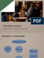 Golden Plaza Business Concept