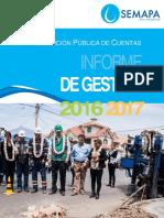 Informe Rendición de Gestión 2016 - 2017