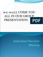 Individual Decision Making Cma
