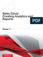 Oracle Sales Cloud Creating Analytics and Reports