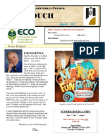 August Newsletter 2017