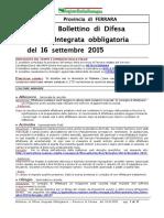 Bollettino Difesa Integrata Obbligatoria Provincia Ferrara 16set15