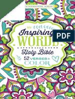NIV Inspiring Words Holy Bible sampler