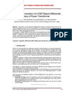 Design and Evaluation of a DSP Based Differential Relay of Power Transformer
