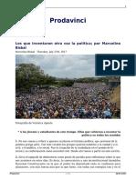 Los Que Inventaron Otra Vez La Politica Por Marcelino Bisbal