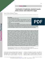 5 the Regulation of Interleukin-6 Implicates Skeletal Muscle