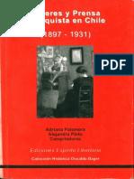 Mujeres y Prensa Anarquista en Chile 1897-1931 - Adirana Palomera Alejandra Pinto