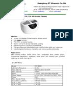 VGT-6250 2_5L Ultrasonic Cleaner Brochure