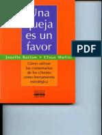 Una Queja Es Un Favor - Janelle Barlow y Claus Moller