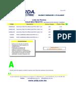 Lista de Precios Caja Multiducto 4.1 Marzo Lista A
