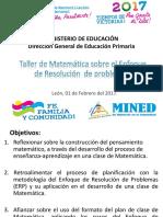 01. Taller de Matematica Sobre Enfoque de Resolucion de Problemas