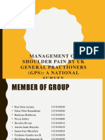 Management of Shoulder Pain by UK General Practioners (1)