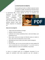 TÉCNICAS DE LA INVESTIGACIÓN ANTROPOLÓGICA