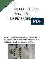 Tablero Electrico Principal y de Emergencia
