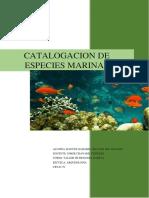 Catalogacion de Especies Marinas (Autoguardado)