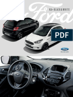 Broschuere Ford Ka Plus Black White