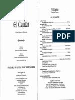 El Capitan - Libretto