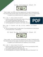 band bucks information sheet