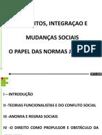 Conflitos Integraçao e Mudanças Sociais o Papel Das Normas Jurídicas