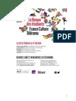 Prix Télérama France Culture-Roman des étudiants - 2016