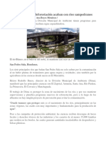 Aguas Negras y Deforestación Acaban Con Ríos Sampedranos