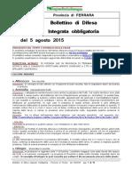 Bollettino Difesa Integrata Obbligatoria Provincia Ferrara 05 Agosto 2015