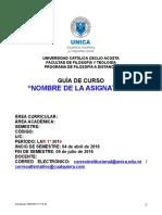 FORMATO GUÍA DE CURSO - FILOSOFÍA - LAR 1° 2016