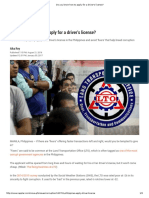 Do You Know How to Apply for a Driver's License