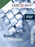 08-Boletin Tecnico 2015 Agosto