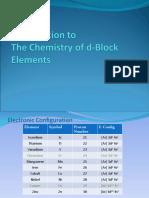 Inorganic Chemistry d-BlockElements