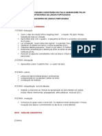 Sequência de Atividades Construída No Polo Camaragibe Pelos Professores de Língua Portuguesa