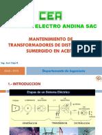 Mantenimiento de transformadores de distribución sumergido en aceite