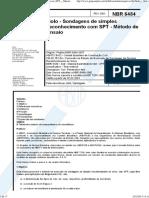 Solo - Sondagens de Simples Reconhecimento Com SPT - Metodo de Ensaio NBR 06484 - 2001
