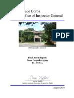 Peace Corps Paraguay Final Audit Report | August 2010