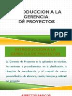 Introduccion a La Gerencia de Proyectos- CONSTRUCCION I
