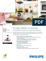 Batidora Philips HR209600- Folleto