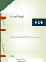 Mikrofiltrasiii