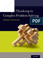 Strategic Thinking in Complex Problem Solving