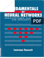 Fundamentals of Neural Networks by Laurene Fausett