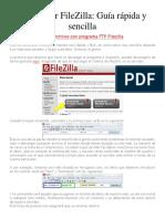 Cómo Usar FileZilla