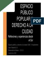 Espacio público popular  y derecho a la ciudad - Juan Tokeshi.pdf